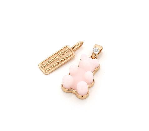 Pink Opal Gemmy Bear