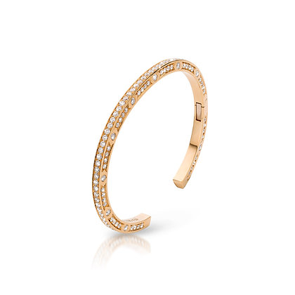 JL Bangle Rose Gold White Diamonds