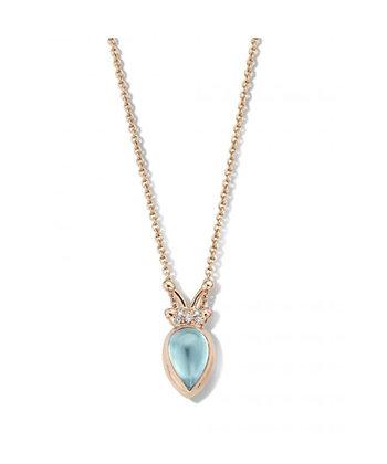 Lily Gold Beetle Blue Aquamarine