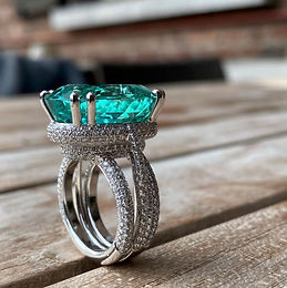 Paraiba Tourmaline Diamond Ring by Jochen Leen