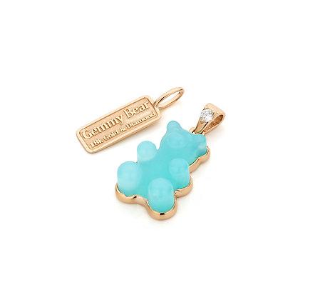 Blue Opal Gemmy Bear