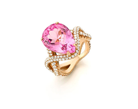 Swirl Vivid Pink Morganite