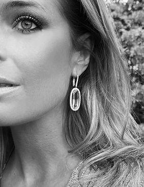Aquamarine Diamond Earrings by Jochen Leën