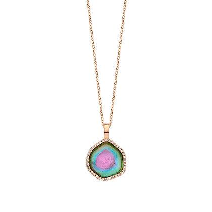 Paraiba Watermelon Tourmaline Necklace