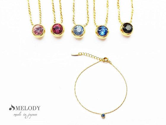 施華洛世奇 Swarovski 日本製5色水晶手鍊