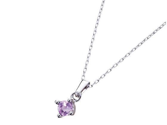夜光紫水晶吊墜