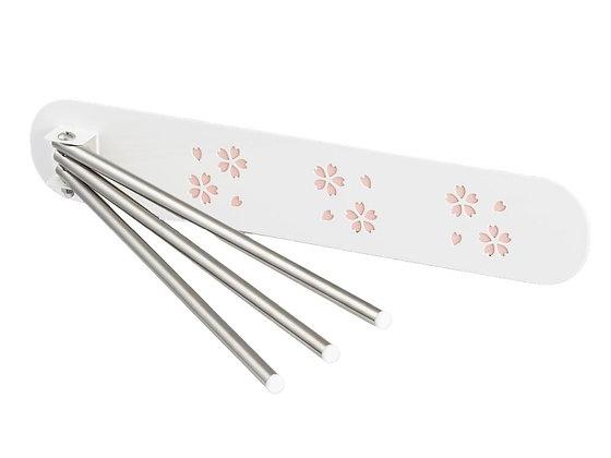 日本製造 磁鐵櫻花毛巾架