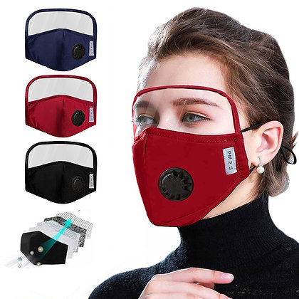 Protective Cotton Mask Integrated With Goggles Mask With Breathing Costumes