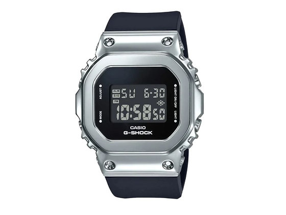 Casio G-SHOCK GMS5600-1 不銹鋼黑色男女通用腕錶