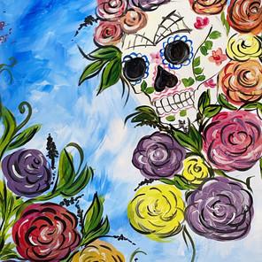 Sugar Skull in Flower Land