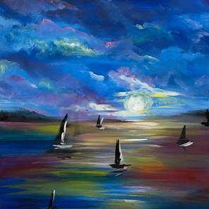Midnight Moon Sail
