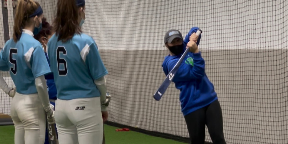 Backstop and Salve Regina Softball Hitting Clinic