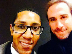 Kevin Porter with Joseph Fiennes