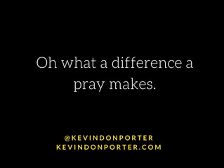 Prayer changes things.