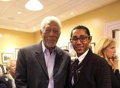 Kevin Porter with Morgan Freeman