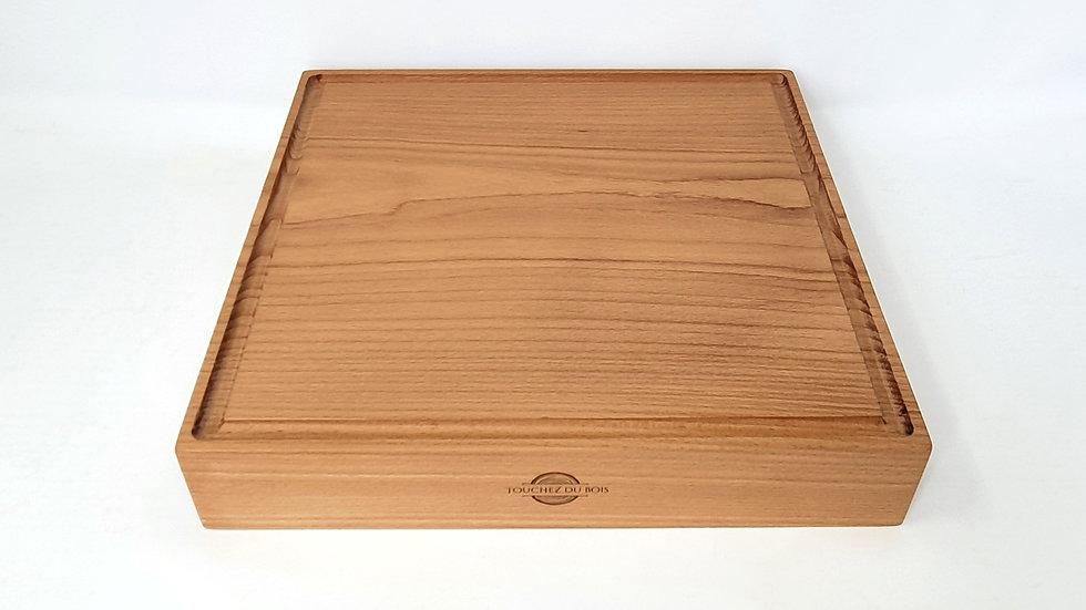 Planche à découper ~ Modèle CARRÉ (bois de fil)