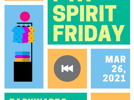 Spirit Friday - Backwards Day