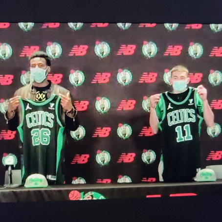 Covering the Celtics through zoom