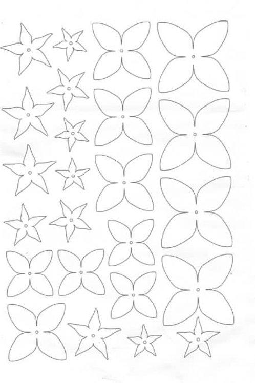 pre cut shrinkets shrink plastic sheets of flower shapes