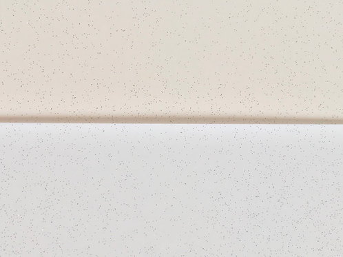 6 sheets fancy shrinkets shrink plastic ivory & white with glitter