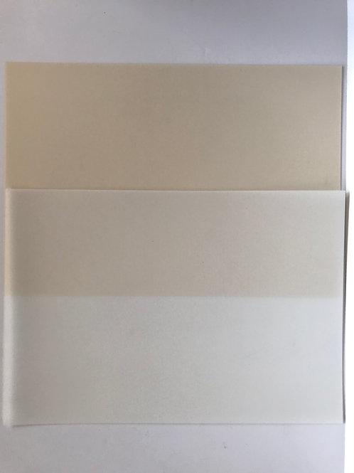 8 sheets of ivory and white shrinkets shrink plastic