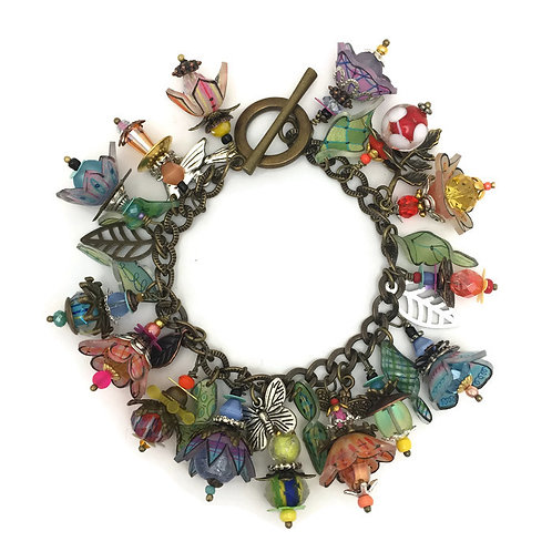 Wearing wonderland bracelet  shrink plastic online class and kit WITH SHRINKETS BASIC MOLD