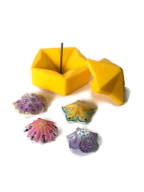 Shrinkets  bead making mold for shrink plastic
