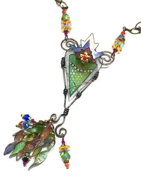 Bohemian Rhapsody A shrinkets online necklace class by julie haymaker