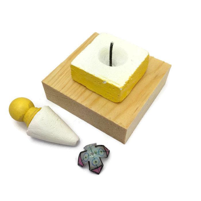 Shrinkets CONE mold for making shrink beads by julie haymaker