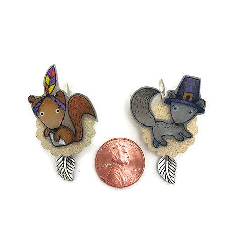 Thanksgiving  online class Earrings using shrinkets  shrink plastic