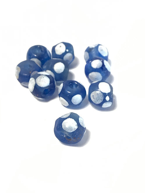 blue frosted African lamp for bead