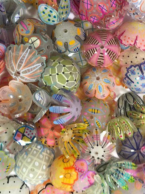 Shrink plastic beads  Juliehaymaker Shrinky dink