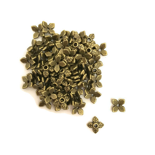 30 point leaf bead cap 8 mm