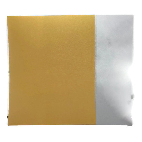 6 sheets  Shrinkets gold  and silver shrink plastic  film