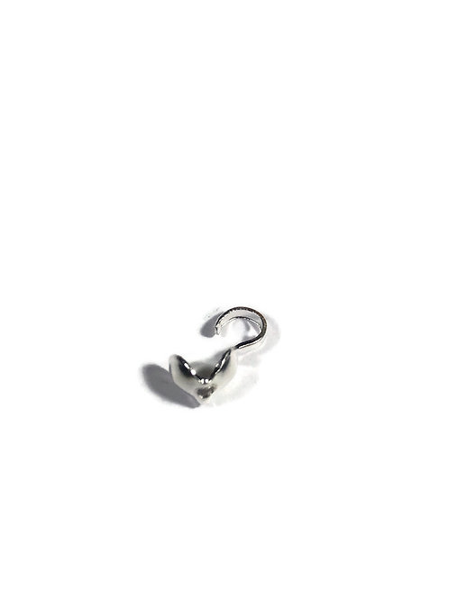 knot cover silver crimp bead cover