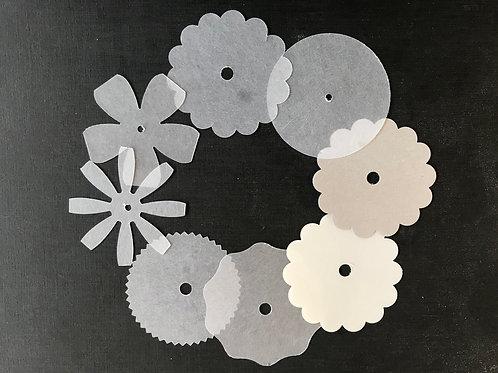 Shrink plastic pre cut shapes