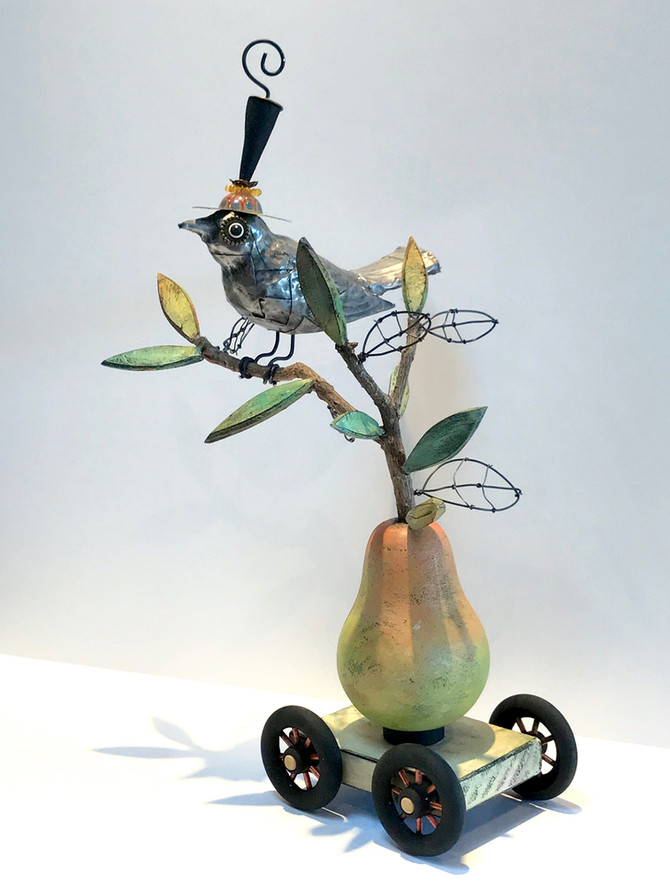 A Pewter Bird in a Pear Tree