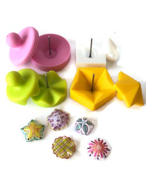 Shrinkets shrink plastic bead making molds moulds