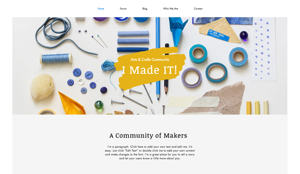 Creative Arts website templates – Arts & Crafts Forum