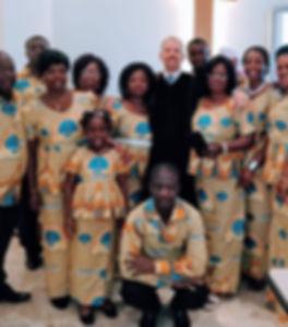 Con il coro della chiesa metodista e val