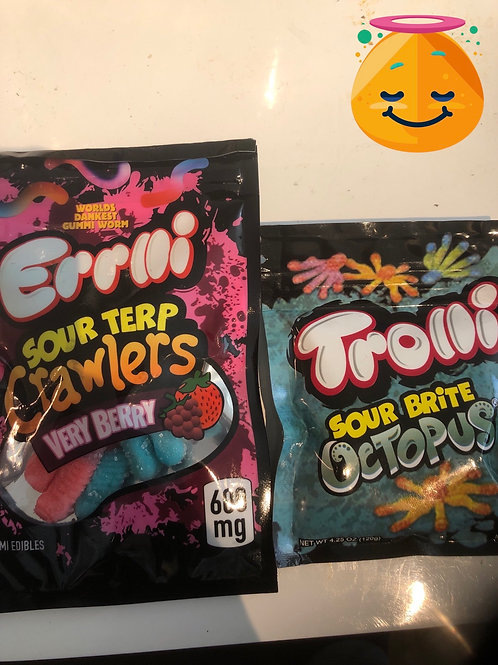 Worms/Crawlers/SourBrite- 600 MG