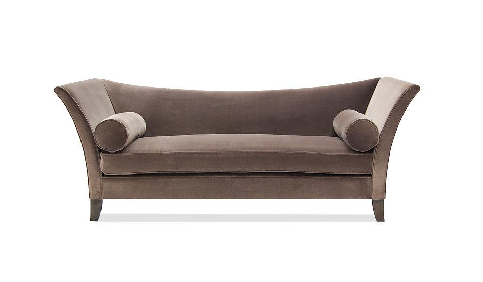 Dorothee Settee upholstered in Cosmos Velvet