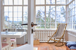 Caribbean Stripe Rocking Chair