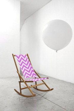 Bright cover folding rocking chair