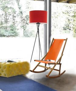 Orange Folding Rocking Chair Modern