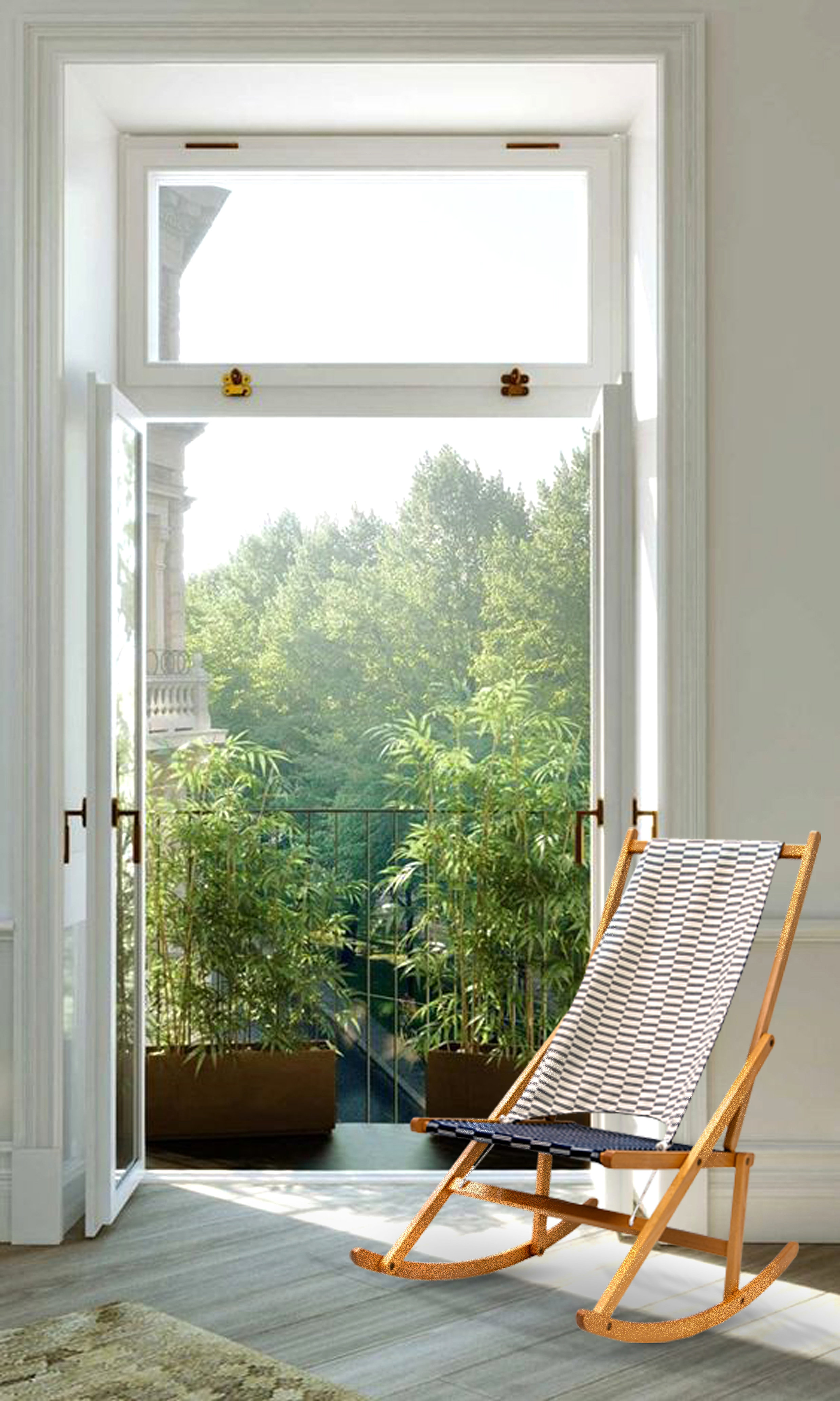 Folding Rocking Deck Chair WAWA
