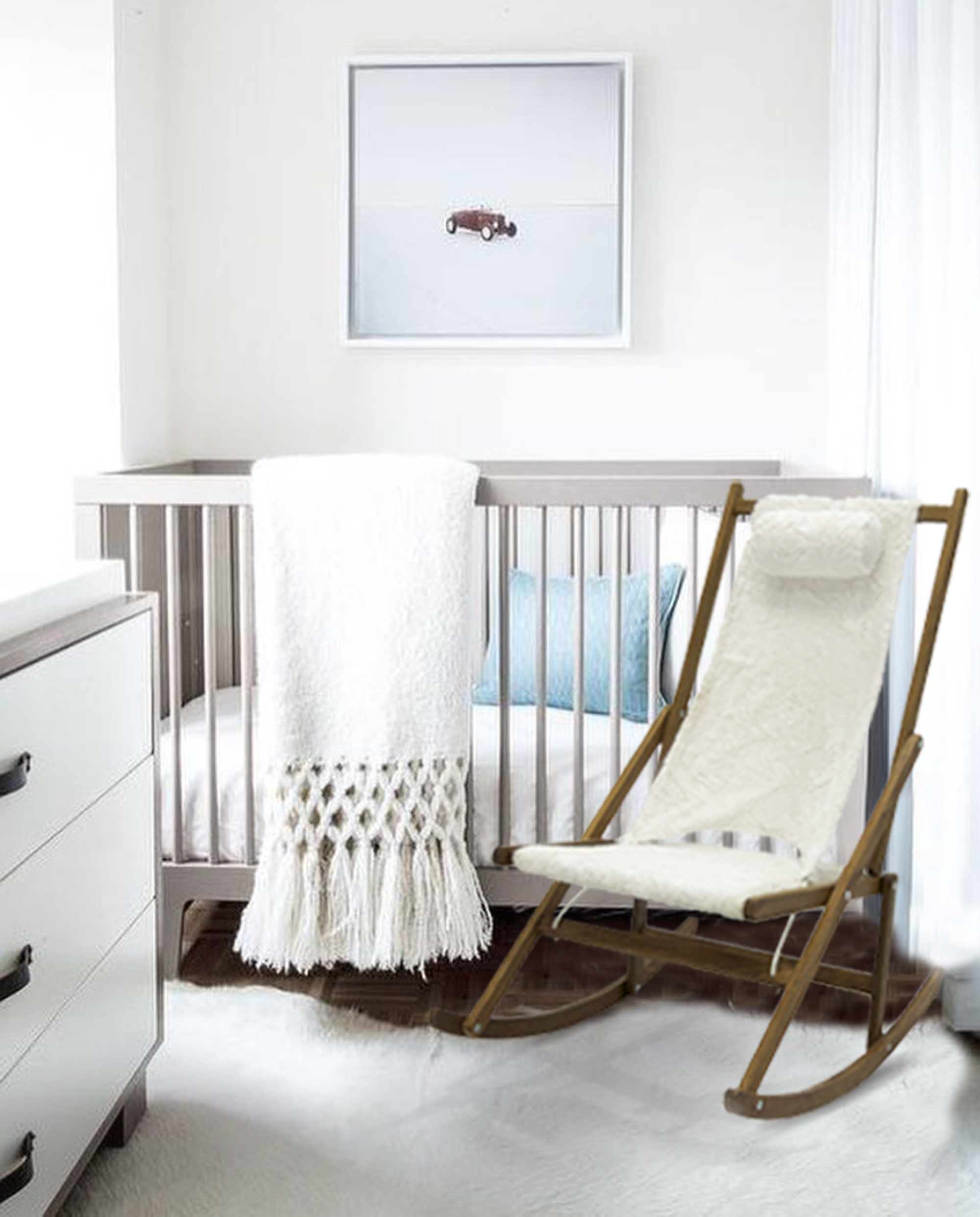Maternity Rocking Chair Fur Nursery