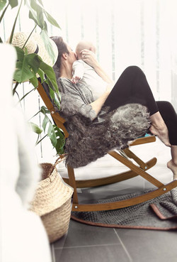 Maternity Rocking Chair Fur Baby