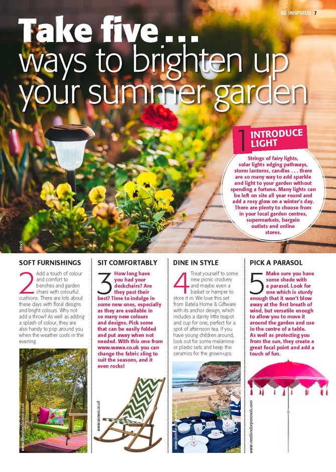5 ways to brighten up your summer garden