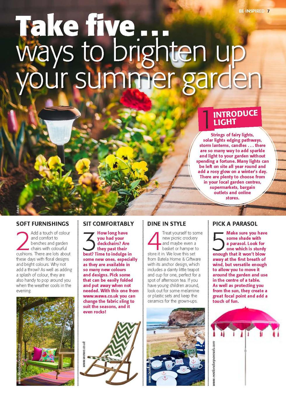 5 ways to brighten up your summer garden